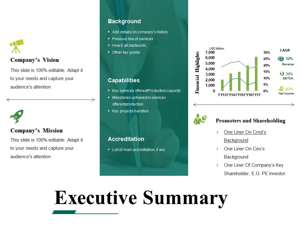 Executive Summary Powerpoint Templates Microsoft | Powerpoint