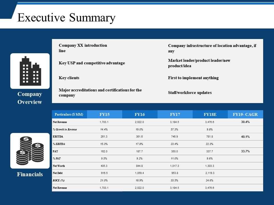 executive summary ppt example file powerpoint shapes powerpoint