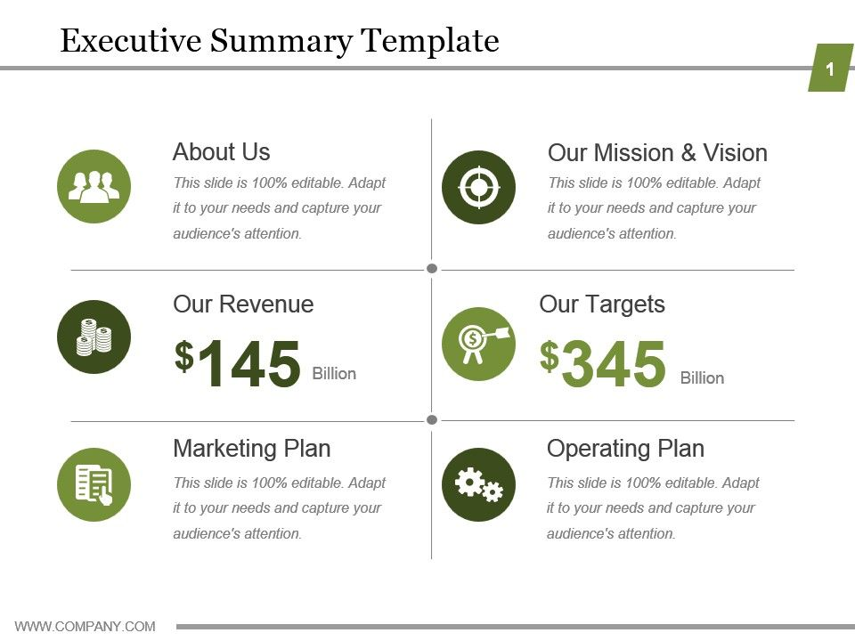 executive summary template powerpoint show | powerpoint slide, Modern powerpoint
