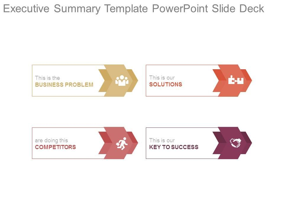 Executive Summary Template Powerpoint Slide Deck  Powerpoint