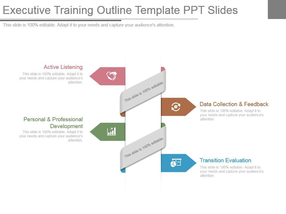 executive training outline template ppt slides | powerpoint, Modern powerpoint