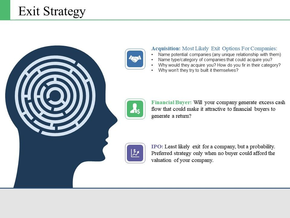Exit Strategy Ppt Infographic Template Slide Download