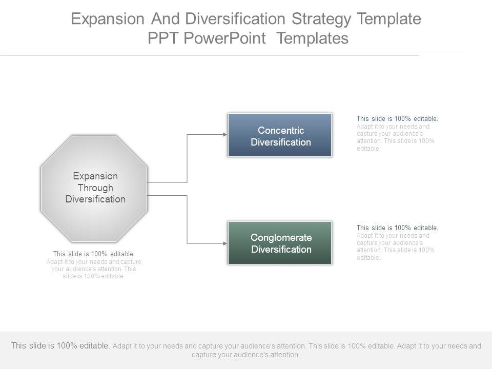 expansion and diversification strategy template powerpoint