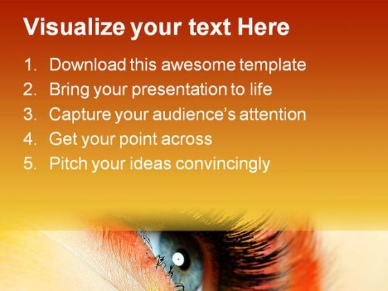 eye fashion beauty powerpoint template 0910 | powerpoint, Presentation templates