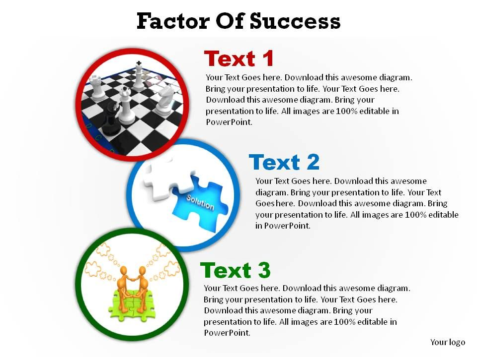 factors of success shown with circles ppt slides presentation, Presentation templates