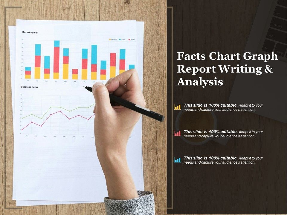 Facts Chart Graph Report Writing And Analysis Powerpoint Slide