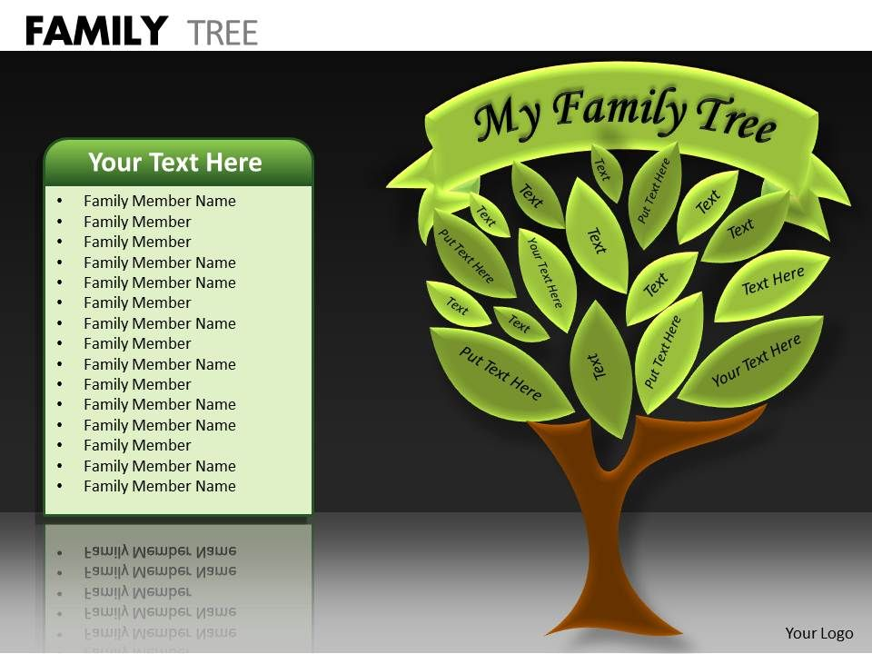 4289791 Style Hierarchy Tree 1 Piece Powerpoint Presentation Diagram