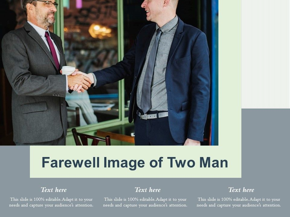 Farewell Image Of Two Man