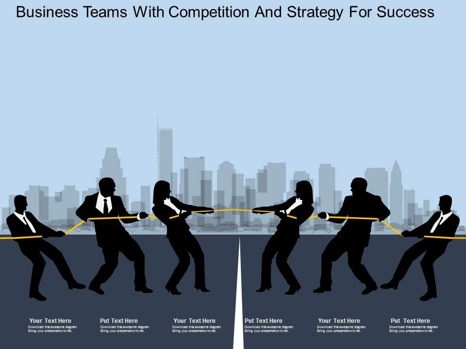 fe_business_teams_with_competition_and_strategy_for_success_flat_powerpoint_design_Slide01