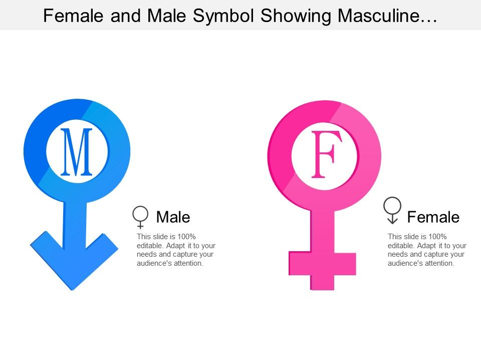 Female And Male Symbol Showing Masculine And Feminine With Male And