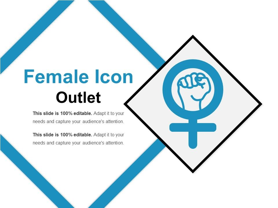 Female icon outlet powerpoint ideas graphics for Slide design outlet