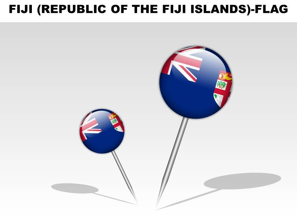 Fiji republic of the fiji islands country powerpoint flags slide06