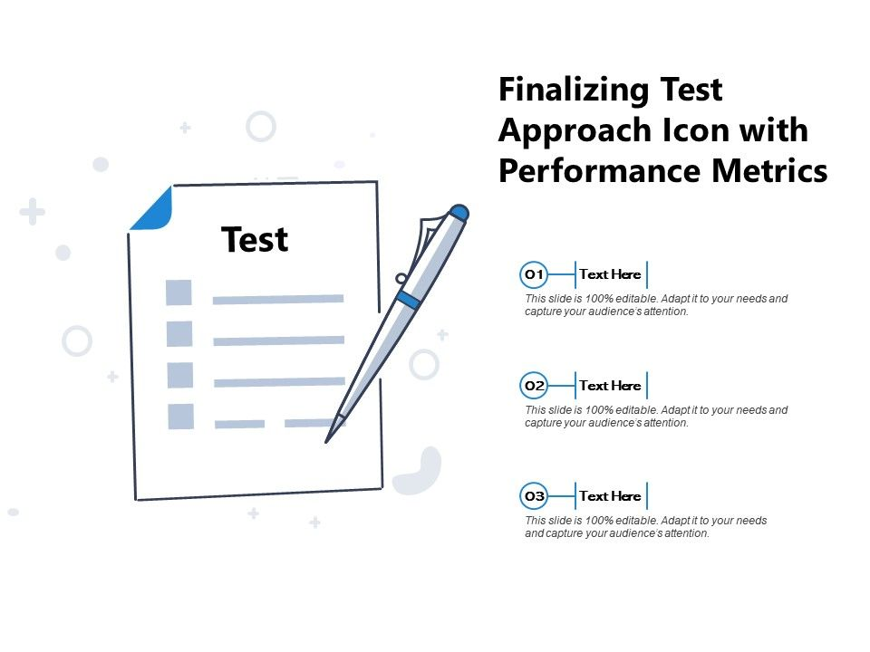 Finalizing Test Approach Icon With Performance Metrics