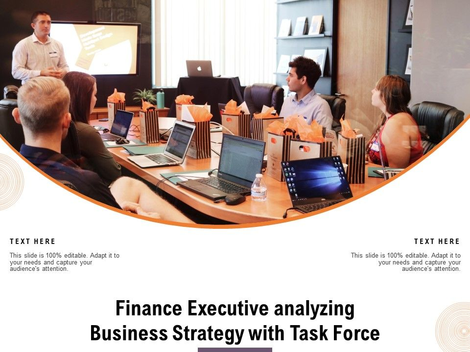 Finance Executive Analyzing Business Strategy With Task Force
