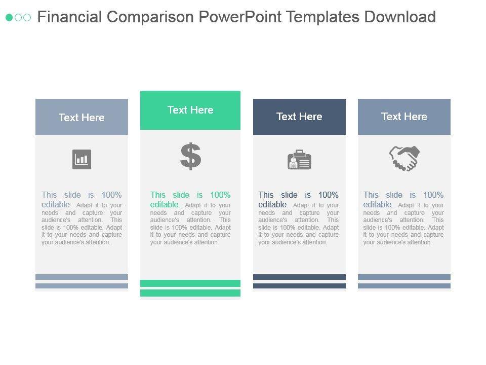 Financial Comparison Powerpoint Templates Download