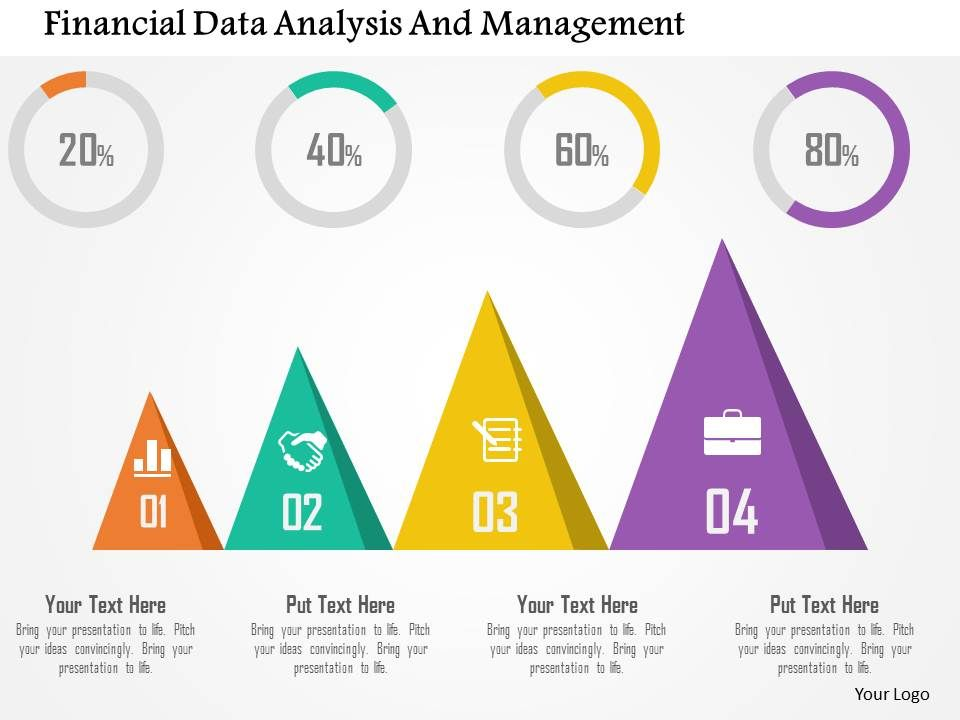Financial Data Analysis And Management Flat Powerpoint Design