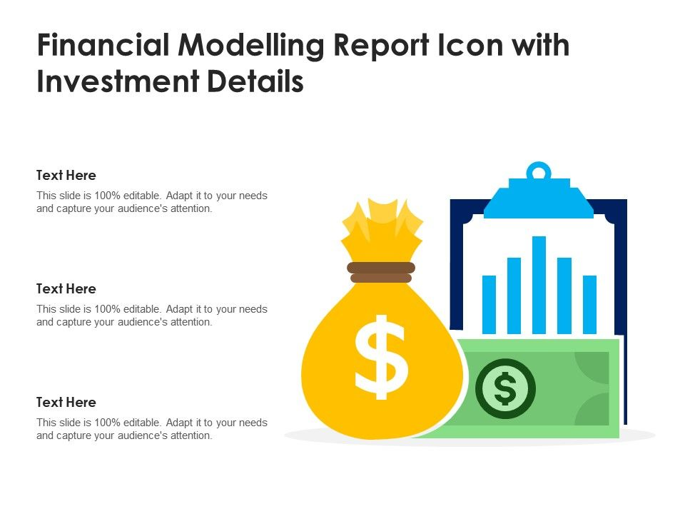 Financial Modelling Report Icon With Investment Details