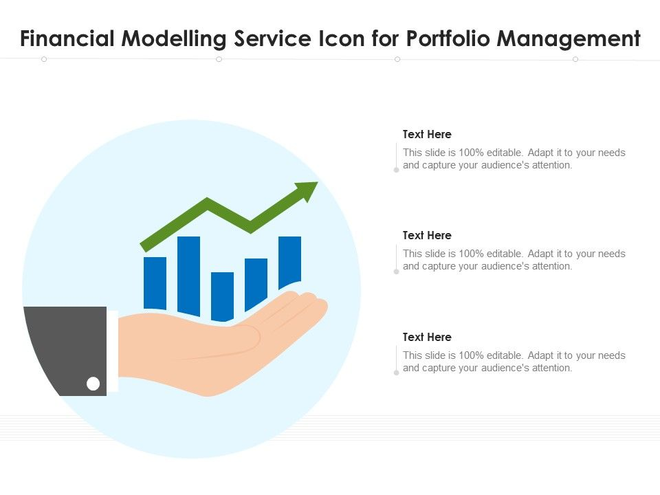 Financial Modelling Service Icon For Portfolio Management