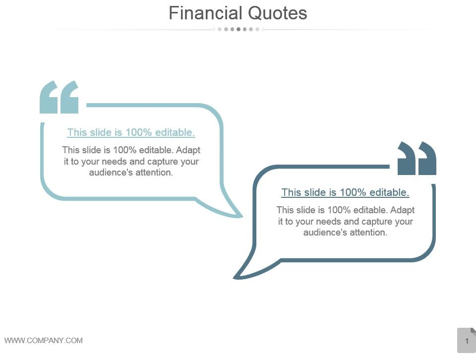 Financial Quotes Powerpoint Slide Clipart Powerpoint Slide