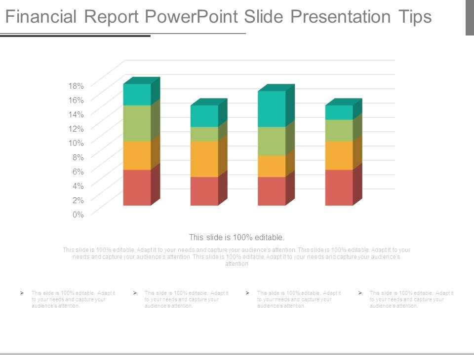 Financial Report Powerpoint Slide Presentation Tips Powerpoint