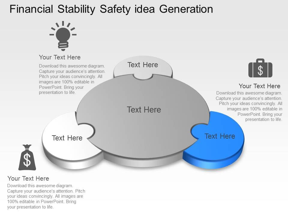 Financial Stability Safety Idea Generation Powerpoint Template ...