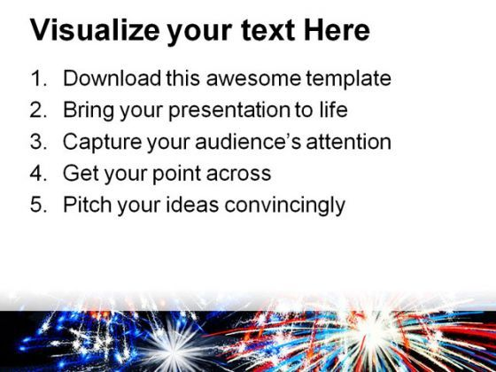 fireworks america festival powerpoint template 1010 templates