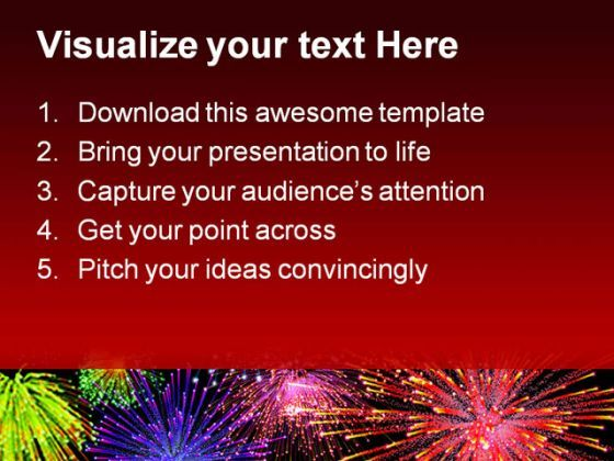 fireworks background powerpoint template 1010 | powerpoint, Presentation templates