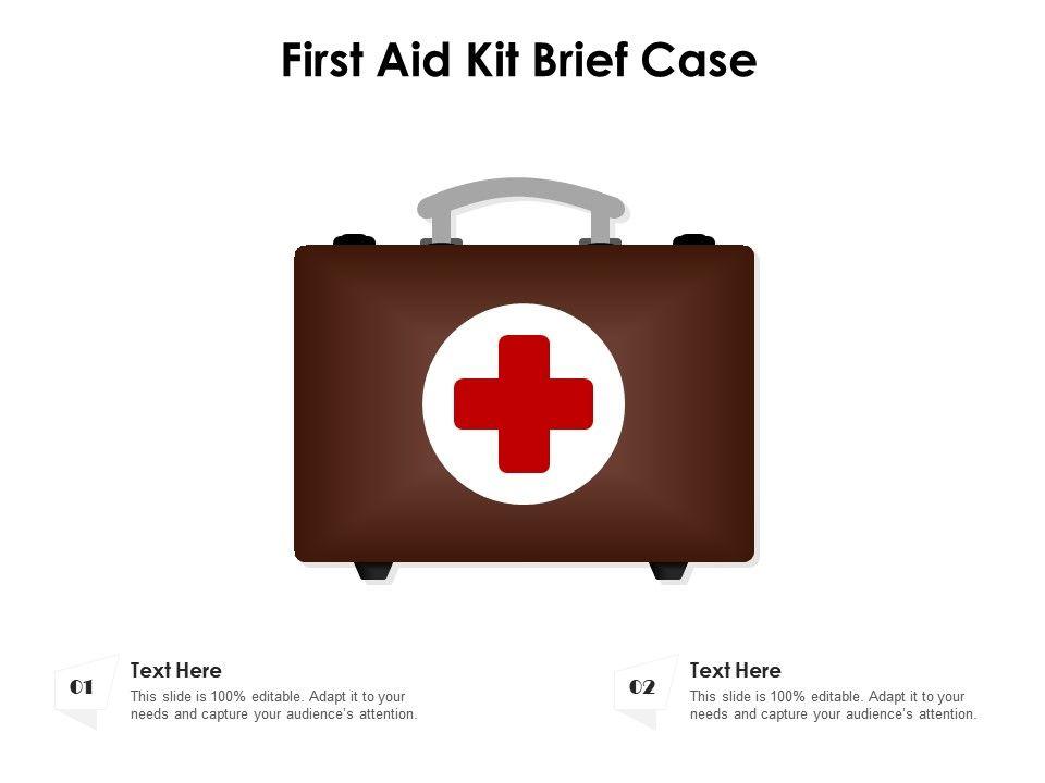 First Aid Kit Brief Case
