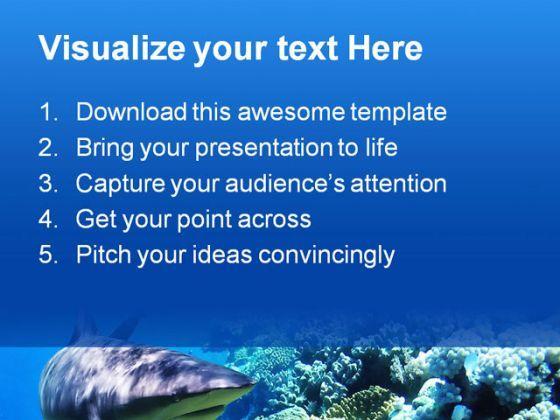 fishreef animal powerpoint template 1110 | powerpoint design, Modern powerpoint