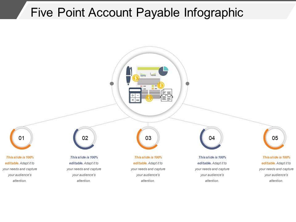 Five Point Account Payable Infographic Slide Show Slide01 Slide02