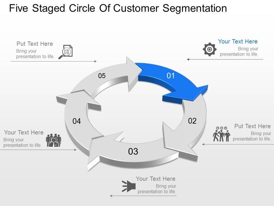 five_staged_circle_of_customer_segmentation_powerpoint_template_slide_Slide01