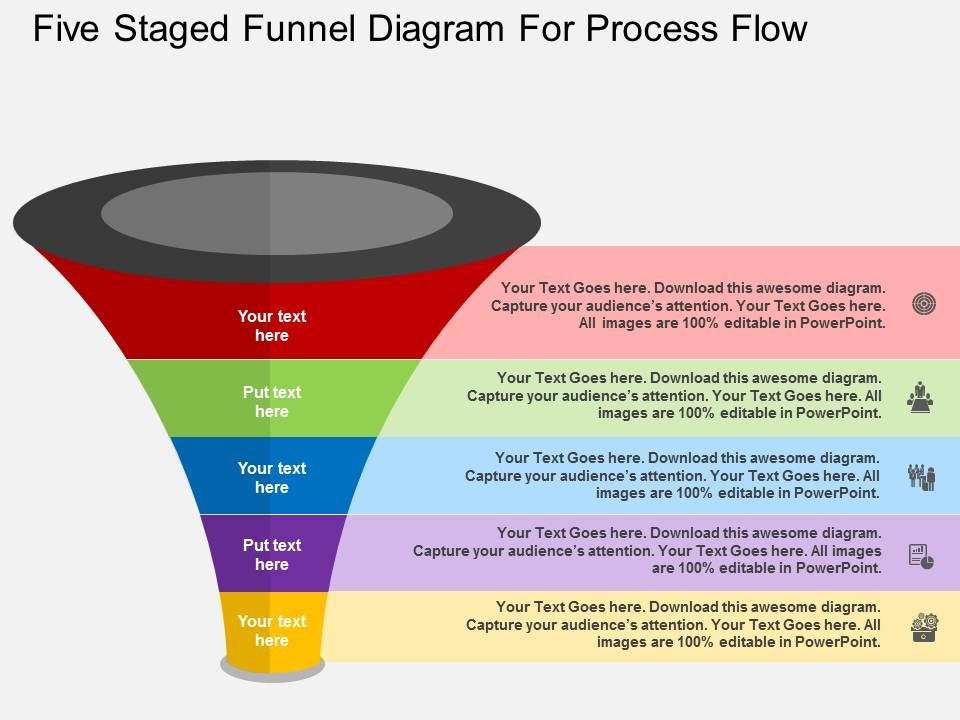Five staged funnel diagram for process flow flat powerpoint desgin fivestagedfunneldiagramforprocessflowflatpowerpointdesginslide01 fivestagedfunneldiagramforprocessflowflatpowerpointdesginslide02 ccuart Gallery