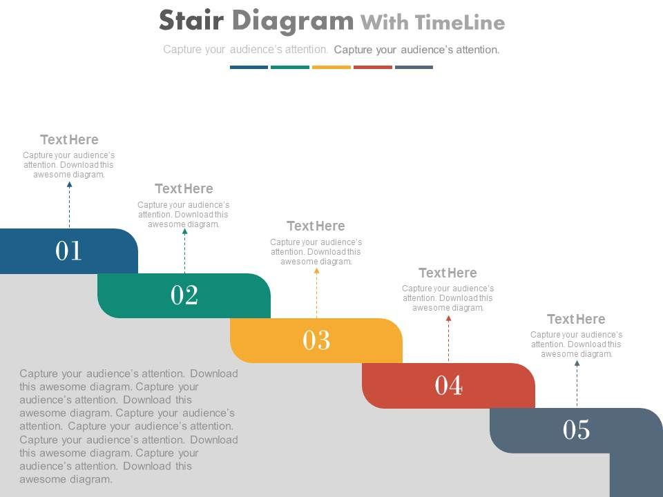 five_staged_stair_diagram_with_timeline_powerpoint_slides_Slide01