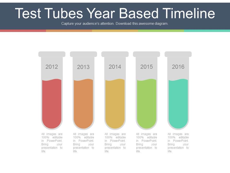 five_staged_test_tubes_year_based_timeline_powerpoint_slides_Slide01