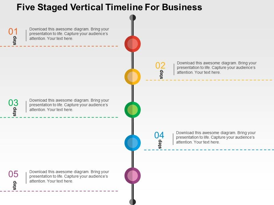 five_staged_vertical_timeline_for_business_flat_powerpoint_design_Slide01