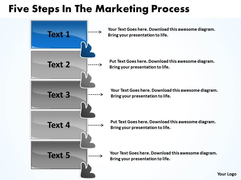 Five Steps In The Marketing Process Freeware Flowchart Slides ...