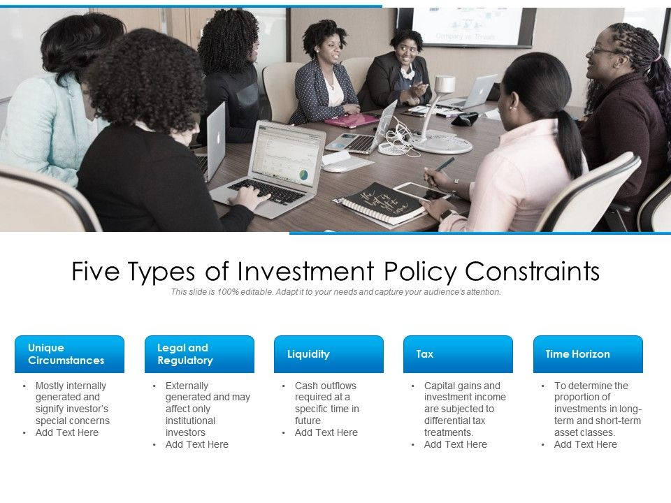 Five Types Of Investment Policy Constraints