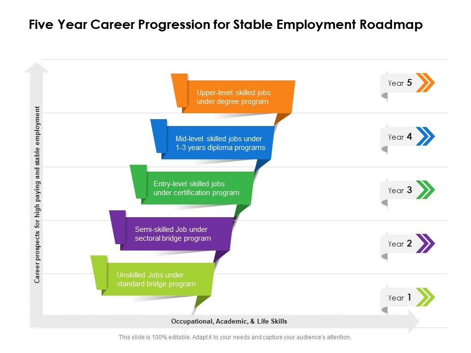 Five Year Career Progression For Stable Employment Roadmap