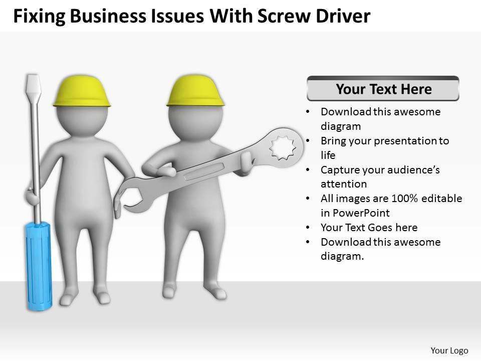 fixing_business_issues_with_screw_driver_ppt_graphics_icons_powerpoint_Slide01