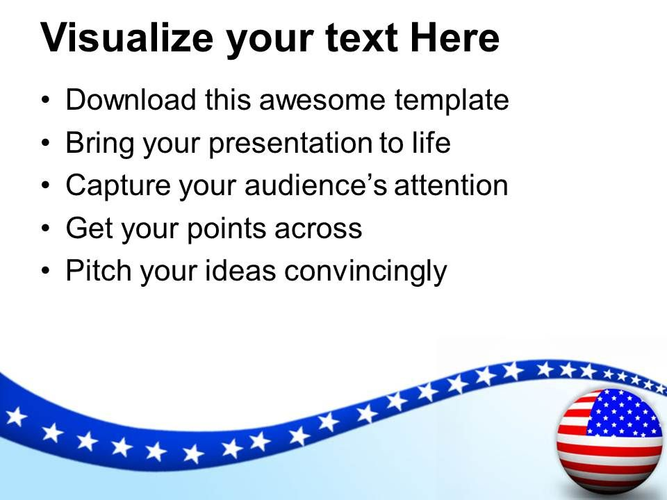 flag of usa is symbol of victory and patriotism powerpoint templates