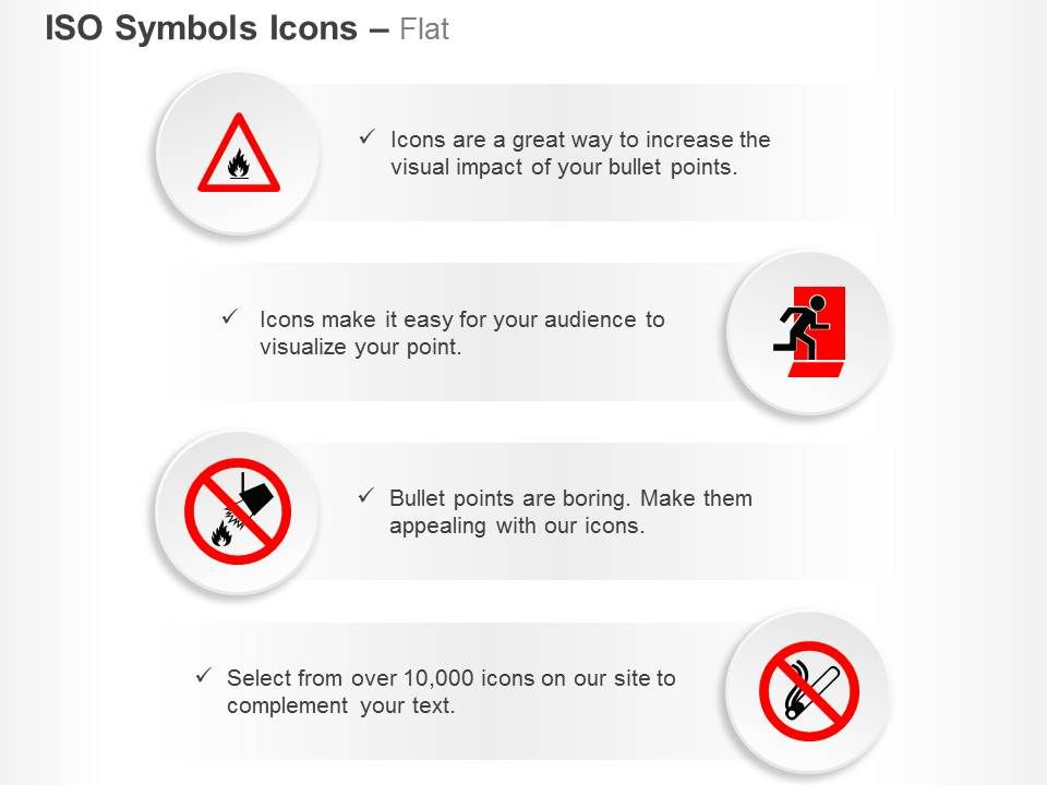 flamable_material_fire_exit_fire_safety_bucket_no_smoking_ppt_icons_graphics_Slide01