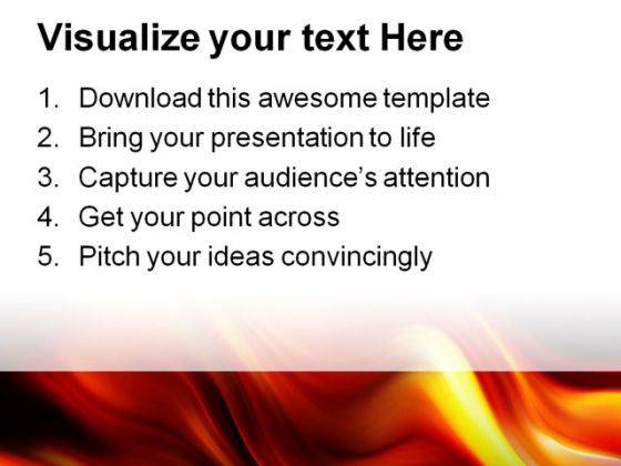 Flame Waves Abstract Powerpoint Templates And Powerpoint