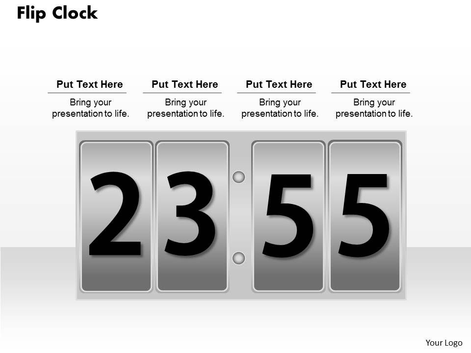flip clock powerpoint template slide presentation powerpoint