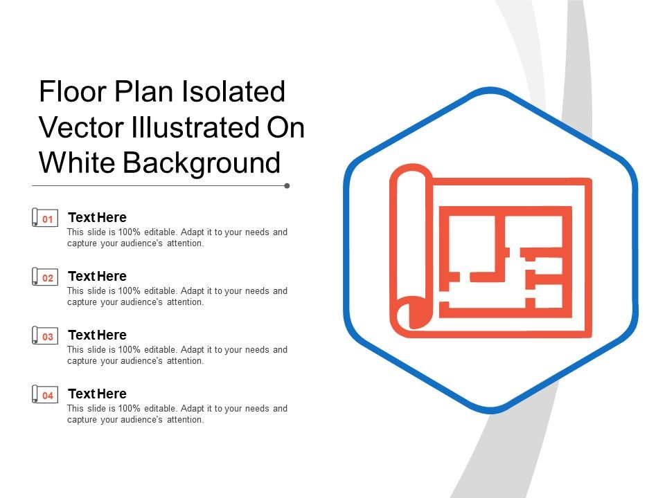 Floor Plan Isolated Vector Illustrated On White Background Powerpoint Shapes Powerpoint Slide Deck Template Presentation Visual Aids Slide Ppt