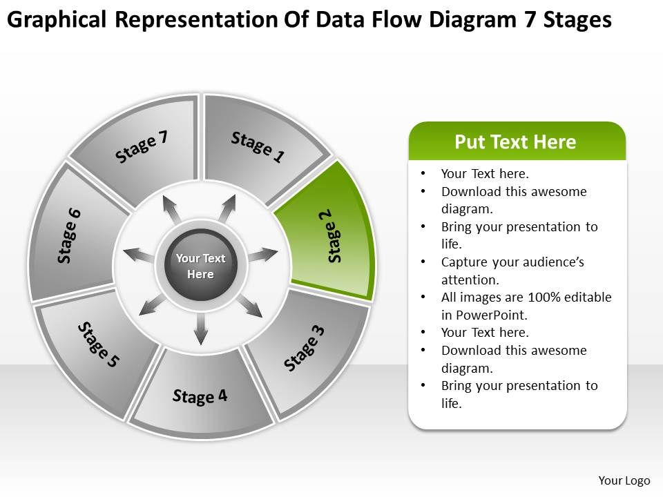 Flow Chart Business Of Data Diagram 7 Stages Powerpoint