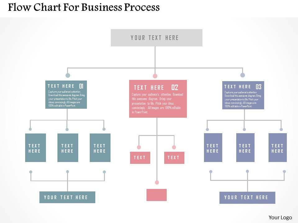 Flow Chart For Business Process Flat Powerpoint Design