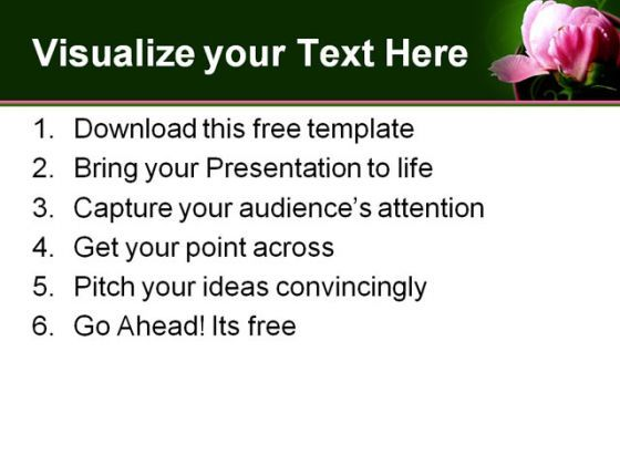 free powerpoint templates pink flowers flowers healthy