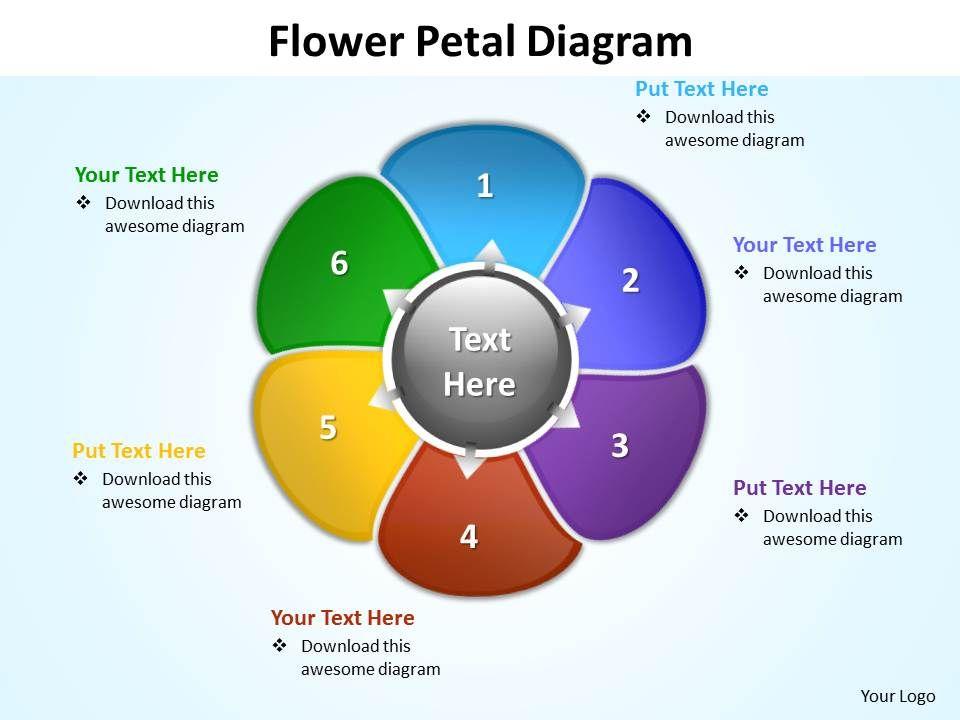 Flower Petal Diagram Editable Powerpoint Slides Templates