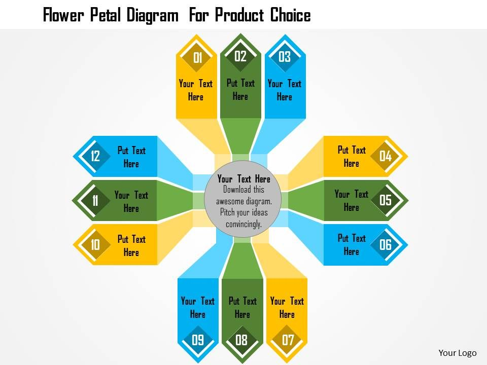 flower_petal_diagram_for_product_choice_flat_powerpoint_design_Slide01