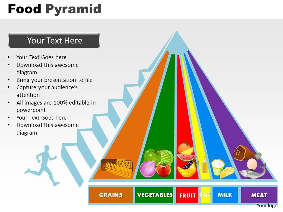 Food Pyramid Powerpoint Slides And Ppt Templates 0412 Powerpoint Presentation Designs Slide Ppt Graphics Presentation Template Designs